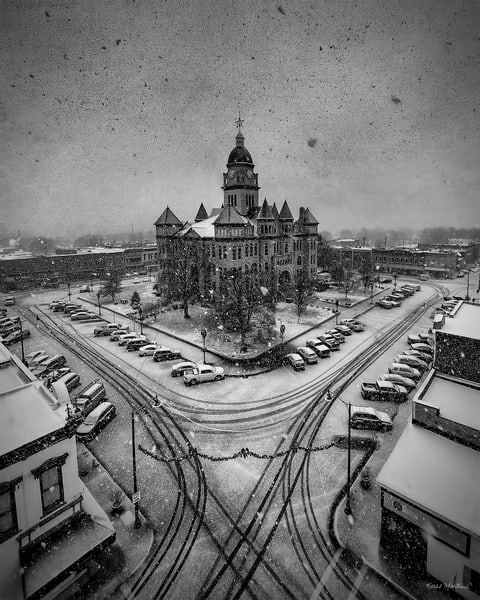 Jasper County Courthouse In Carthage   Snowy Day Art | Koral Martin Fine Art Photography