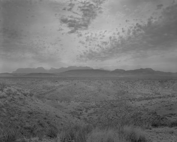 Chisos Mountains From The Road To Terlingua, Big Bend National Park, Texas 1980 Photography Art | Rick Gardner Photography