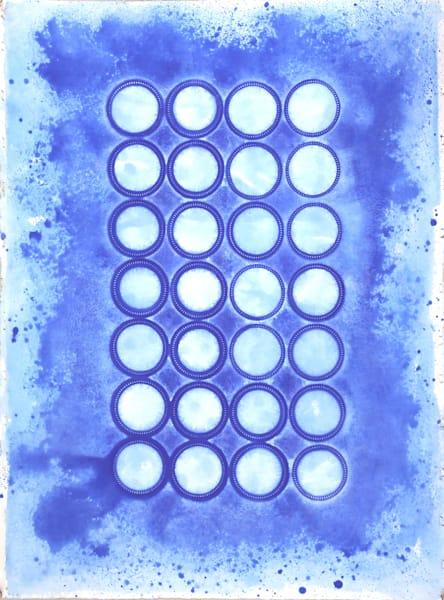 Blue Circles Art   Courtney Miller Bellairs Artist