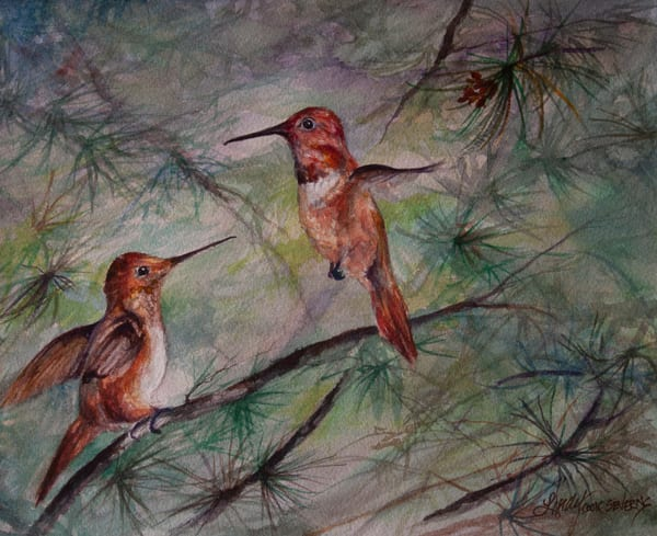 Lindy Cook Severns Art | Comparing Wing Spans, print