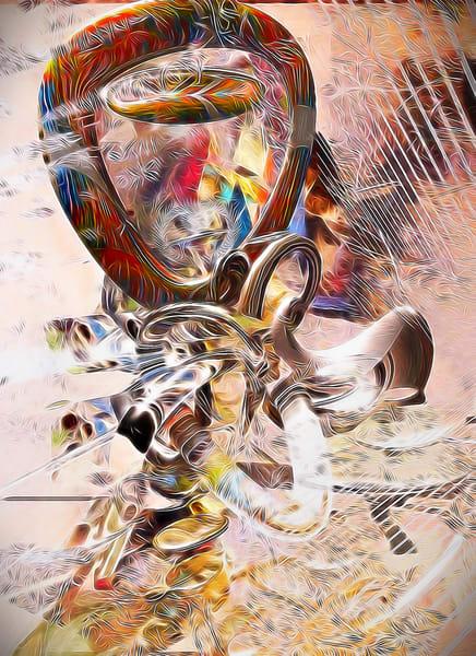 Girl Adjusting Scarf In The Wind Art | Maciek Peter Kozlowski Art