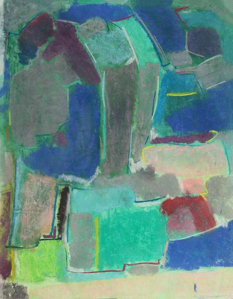 Field Study #2   Pastel On Bfk Rives Paper Art | Peter Anderson Studio