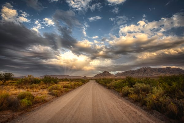 A Warm Road To You - sunsets light the way.  Fine art archival prints by Nathan Larson Photography.
