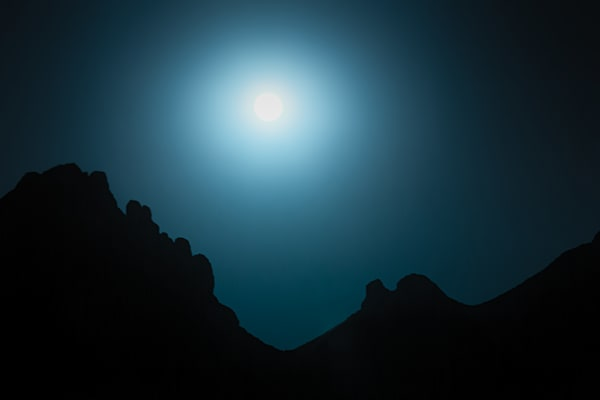 Soak Me In Remington Blue - Full Moon Rising - by Nathan Larson Fine Art Photography