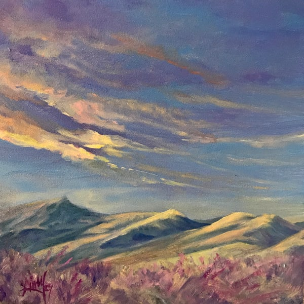 Lindy Cook Severns Art | Songs Of Sage At Sunrise, print