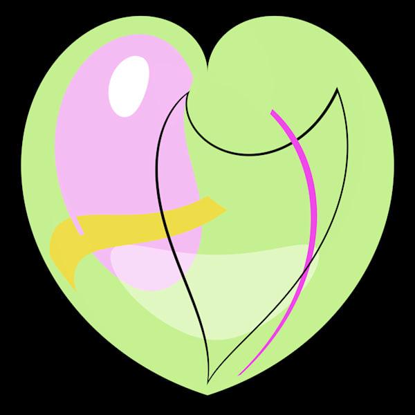 Pastel Green Heart Art | karenihirsch