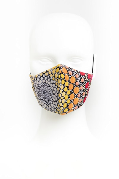 Sunflower Burst Artistic Face Masks