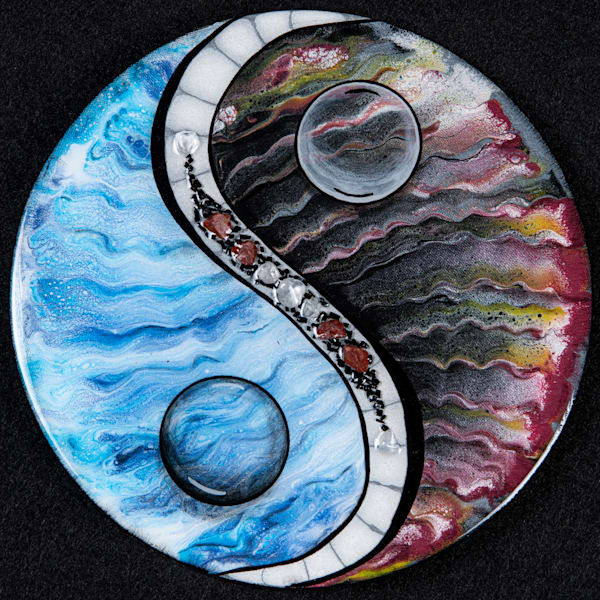 Water And Lava Art   Breathe Art Paintings