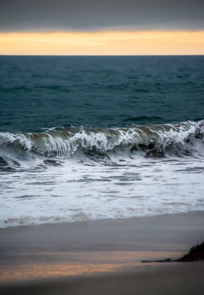 Marina waves at dusk, California