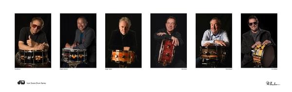 Hal Blaine, Ralph Johnson, Roger Taylor, Neil Peart, Nick Mason, Jim Keltner, Rob Shanahan, DW Drums Icon snare