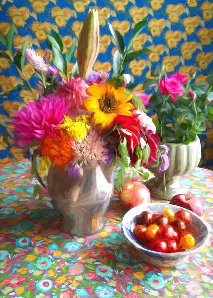 Still Life With Tomatoes Art | smalljoysstudio