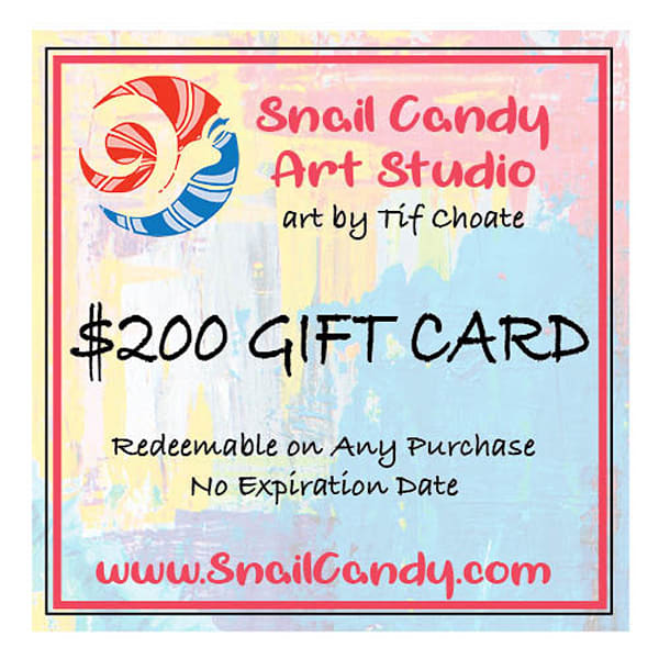 $200 Gift Card | Snail Candy Art Studio