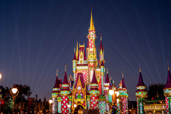 Christmas Castle Projections Scene 1 Photography Art | William Drew Photography