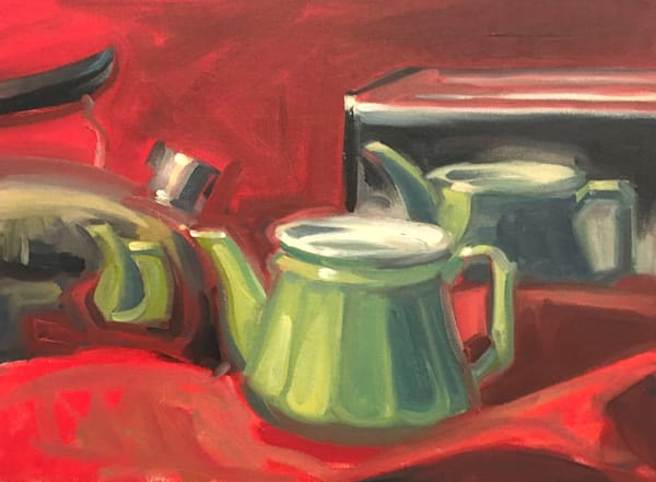 Reflections In Red And Green Art   sheldongreenberg