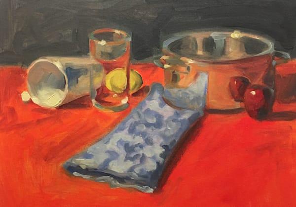 Reflections With Lemon And Apple Art   sheldongreenberg
