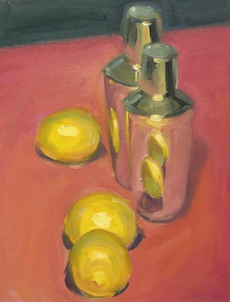 Martini Shaker With Lemons Art   sheldongreenberg