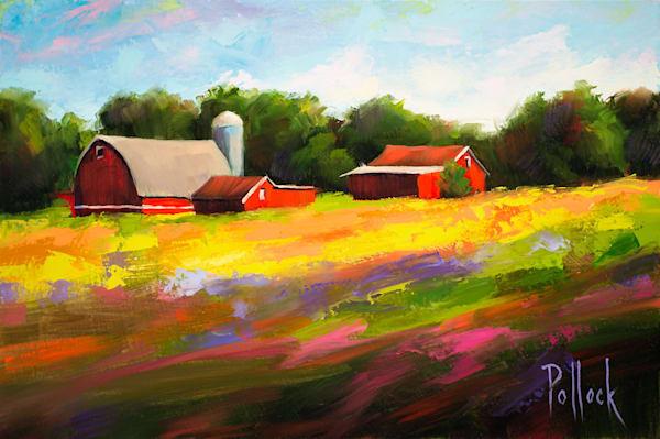Meadow Farm oil on panel | Sarah Pollock Studio