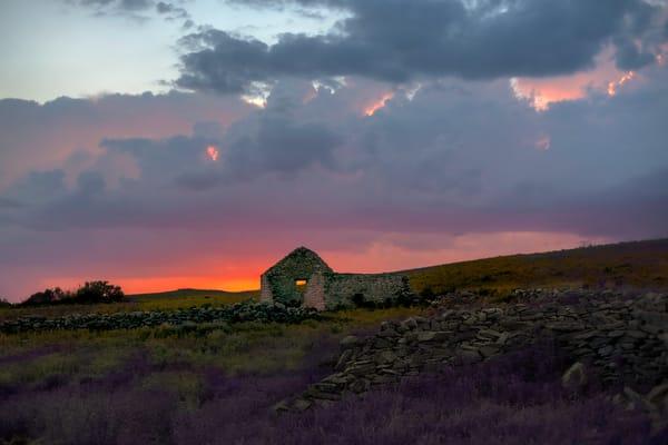 Americana-color. The Olson Place, Lavender Sky by fine art photographer David Zlotky.
