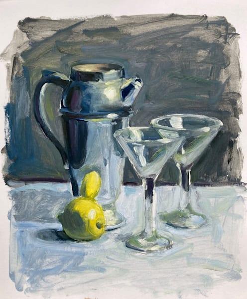 Martini Shaker With Lemons 2 Art   sheldongreenberg