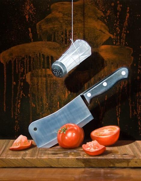 A Salt with a Deadly Weapon | dark humor | Richard Hall Fine Art