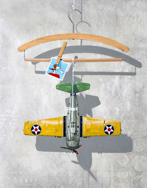 Airplane Hanger | jigsaw puzzle | Richard Hall Fine Art | pilot humor