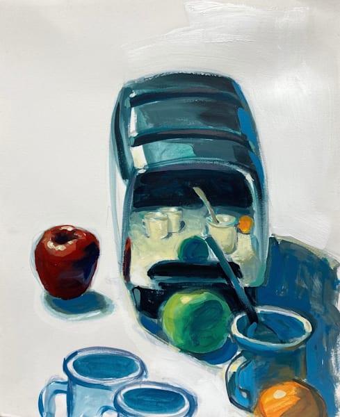 Reflection With Apples And Orange Art   sheldongreenberg