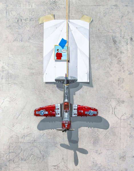 Contact | Richard Hall Fine Art | Toy airplane | paper airplane | snoopy