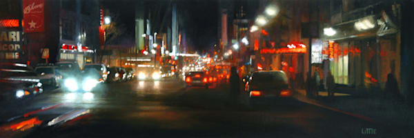 'Eastside Buzz' print of oil painting by Ed Little, Bridgewater, CT