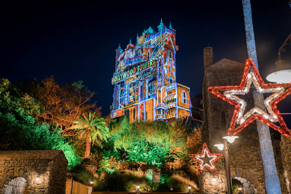 Piggy And Kermit Hollywood Tower Christmas Photography Art | William Drew Photography