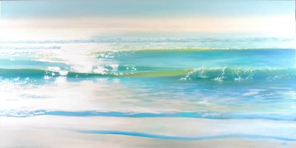 'Serenity' Seascape oil painting by Ed Little, Bridgewater, CT