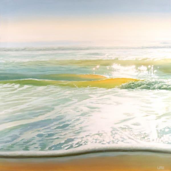 "'Lightwave' 40 x 40"" oil seascape painting by Ed Little, Bridgewater, CT"