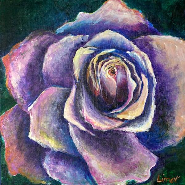 Purple Rose Print Art | Limor Dekel Fine Art