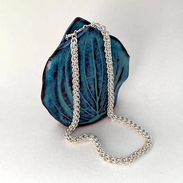 Sterling Silver Spiral Rope Necklace Art | Mid-AtlanticArtists.com