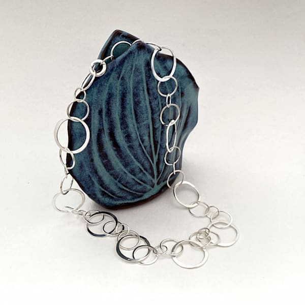 Spheres Of Influence: Cascading Silver Rings (Necklace) Art | Mid-AtlanticArtists.com