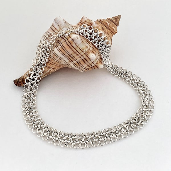 Japanese Weave Chainmail Collar (Necklace) Art | Mid-AtlanticArtists.com
