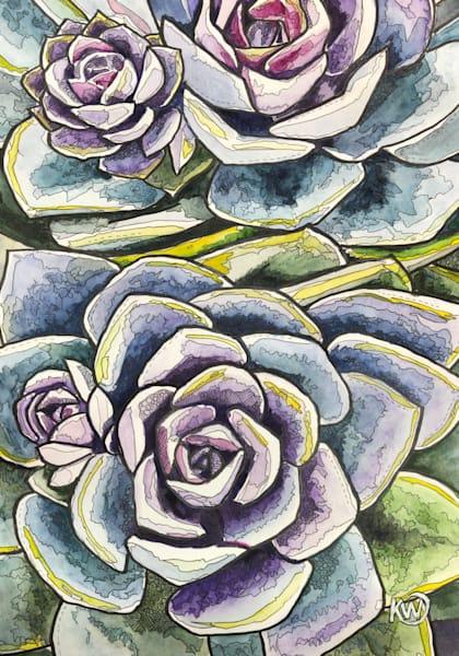 Succulent Art   Water+Ink Studios