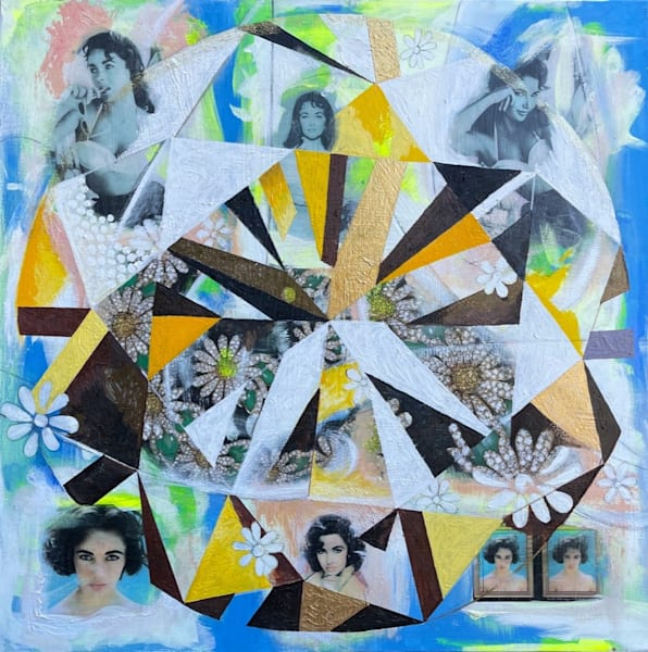 Elizabeth Taylor Yellow Diamond Art | Cool Art House - online art gallery with hip emerging artists. Collect cool art you can view on your own wall before you invest!
