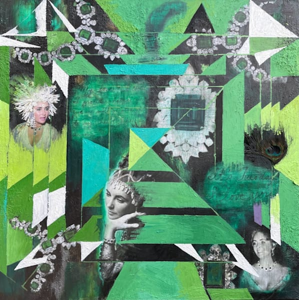 Elizabeth Taylor 'emeralds' Art | Cool Art House - online art gallery with hip emerging artists. Collect cool art you can view on your own wall before you invest!