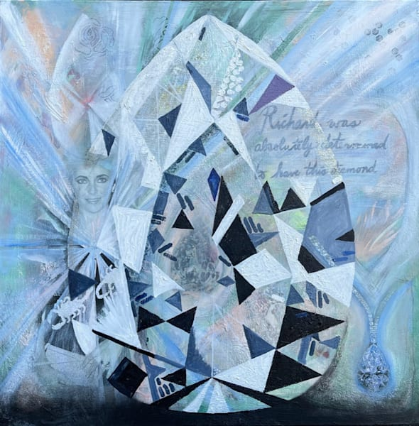 Elizabeth Taylor 'taylor Burton Diamond' Art | Cool Art House - online art gallery with hip emerging artists. Collect cool art you can view on your own wall before you invest!