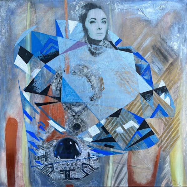 Elizabeth Taylor 'sapphires' Art | Cool Art House - online art gallery with hip emerging artists. Collect cool art you can view on your own wall before you invest!