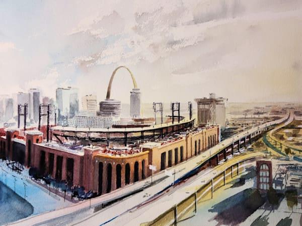 Stl Stadium Skyline Art | Steven Dragan Fine Art