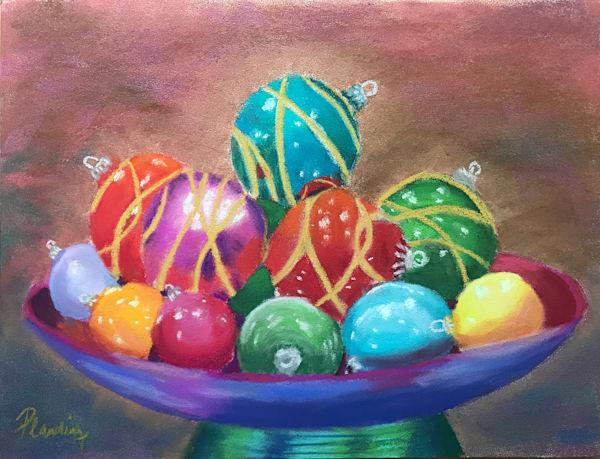 Happy Holidays | Original Pastel