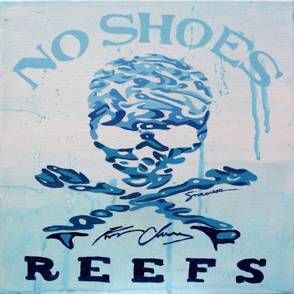 No Shoes Reefs Logo Original Paintings Art | juliesiracusa