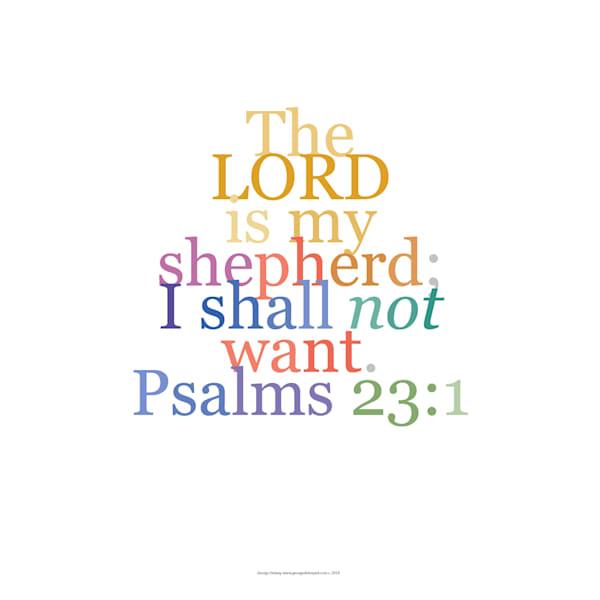 Psalm 23:1 Faith Verse