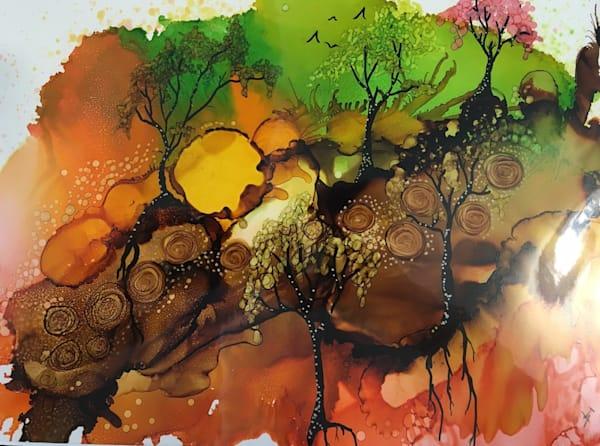 Tree Lined Art   Art With Judy Ann