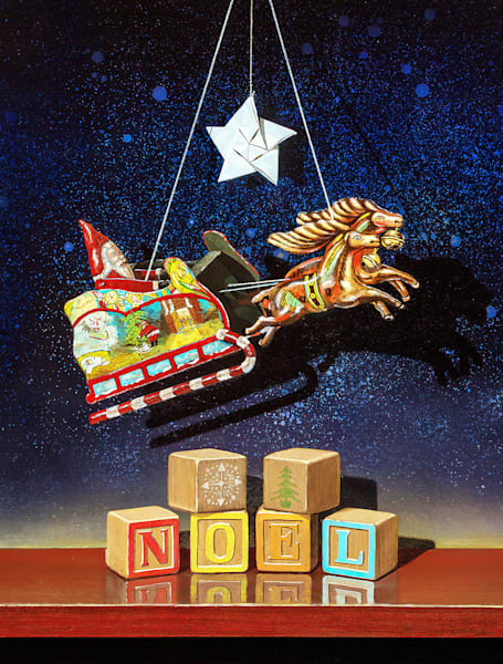 Noel | santee toy | origami star | blocks | Richard Hall Fine Art