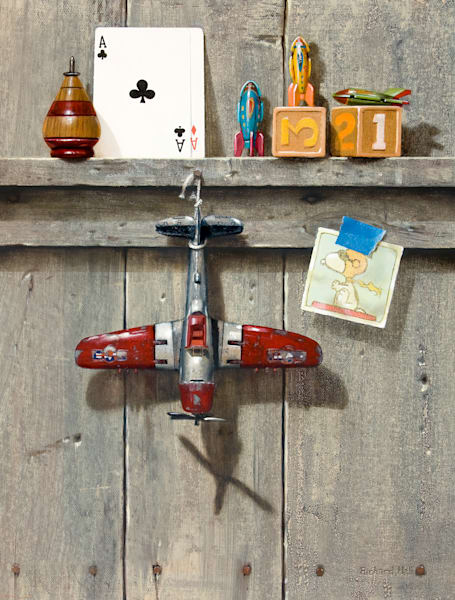 Top Dog | Toy airplane | Ace | Top | snoopy | Richard Hall Fine Art