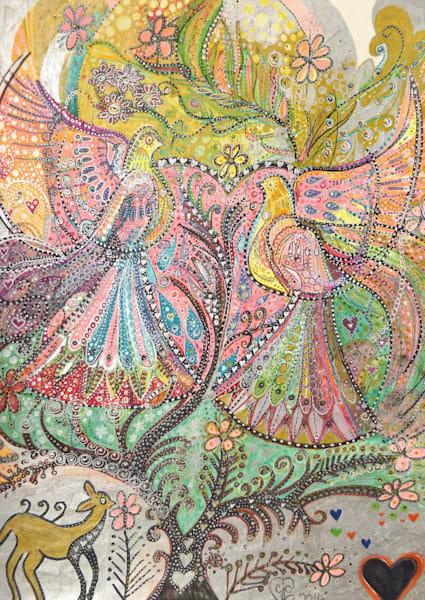 Two Birds In A Tree Art   Cynthia Christensen Art