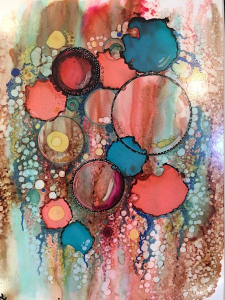 Coral Cascade Art | Art With Judy Ann