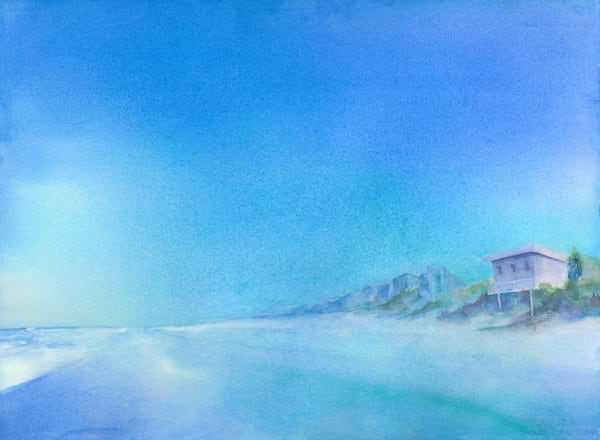 New Smyrna Beach Blue Art | ArtByPattyKane